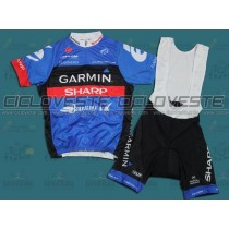 Maglia manica corta e Salopette Garmin Sharp Team 2013