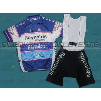 Maglia manica corta e Salopette Reynolds Reynolon throwback Blu Team