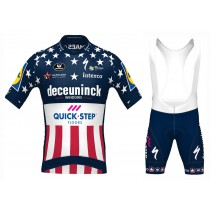 Maglia manica corta e Salopette 2020 Quick-Step US Champion