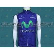 Gilet antivento squadra Movistar 2014
