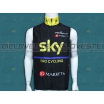 Gilet antivento SKY Nero / Giallo 2014