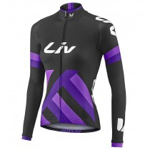 Maglia manica lunga 2017 Liv Race Day Donne Nero-Purple