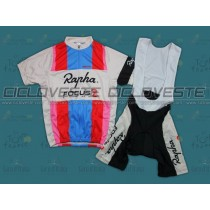 Maglia manica corta e Salopette Rapha Focus Throwback Team