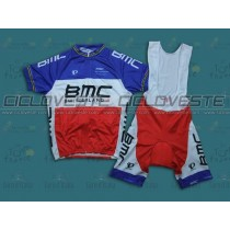 Maglia manica corta e Salopette BMC France Champion Team 2013