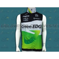 Gilet antivento GreenEDGE Nero E verde Team 2012