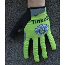 Guanti Vacansoleil Tinkoff Race Giallo termiche 2016